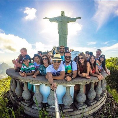 Best GoPro Be A Hero Images On Pinterest Traveling Holiday - Guy takes epic selfie top christ redeemer statue brazil