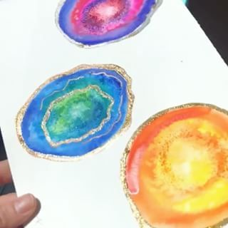 Watercolor Geodes Grade School Art Projects Geode Art