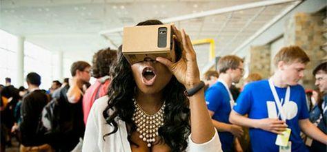 Virtual Reality-bril van karton