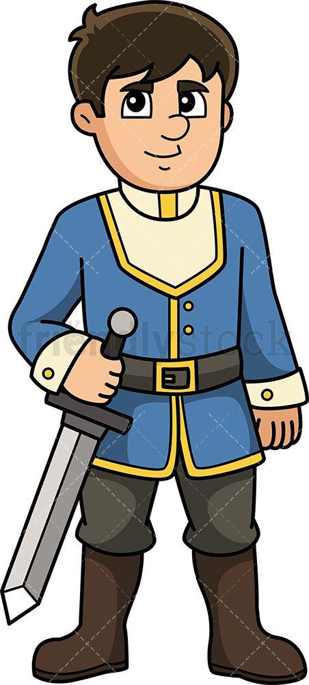 Medieval Prince Cartoon Clipart Vector Friendlystock History Vector Medieval Prince Cartoon Clip Art