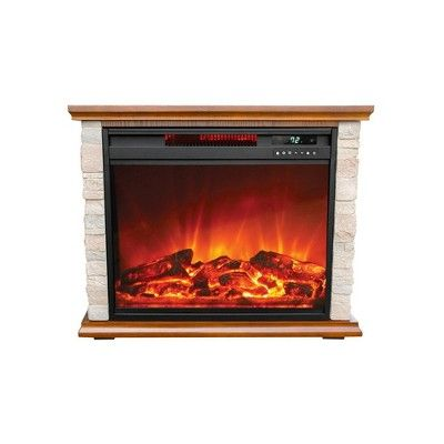 Get Free Shipping From Target Read Reviews And Buy Lifesmart Fp1136 Large Room Infrared Quartz Infrared Fireplace Stone Electric Fireplace Electric Fireplace
