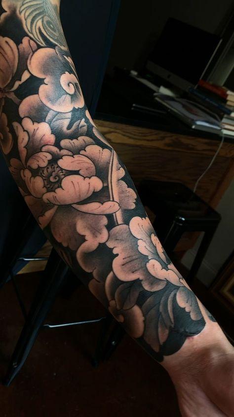 Photo of Peony Japanese Tattoo