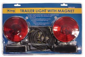 12 Volt Complete Trailer Light Kit With Magnetic Mount Magnets Tools Equipment Kit
