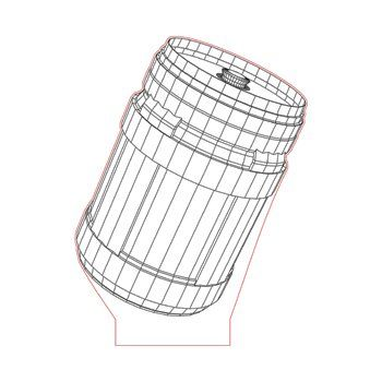 Chug Jug Fortnite 3d Illusion Lamp Plan Vector File For Laser And Cnc 3bee Studio 3d Illusion Lamp 3d Illusions Illusions