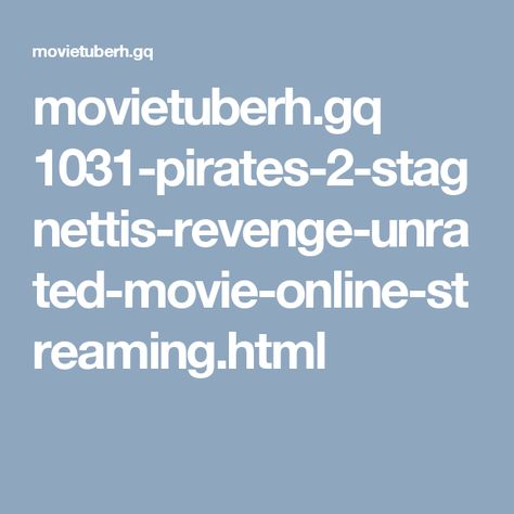Movietuberh Gq  Stagnettis Revenge Unrated Movie