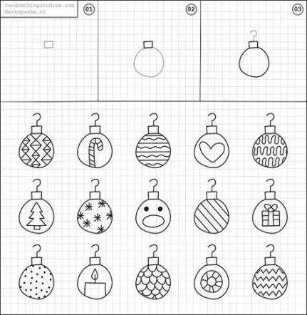 Drawing Christmas Ornaments 41 Ideas Ornament Drawing Xmas Drawing Christmas Doodles