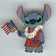 Disney WDW Independence Day Stitch Pin