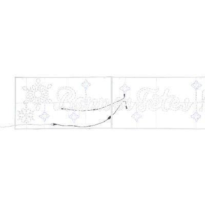 Plaque Lumineuse Bonnes Fêtes Blanc Xxl 3 3 M Achats