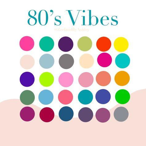 Retro Color Palette, Palette Art, Colour Pallete, Color Palettes, Color Combos, Bright Color Schemes, Braces Colors, Color Harmony, Aesthetic Colors