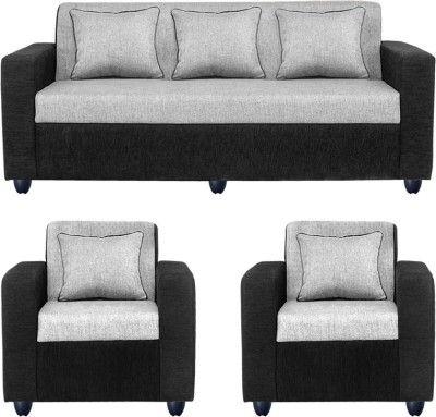 Bharat Lifestyle Fabric 3 1 1 Black Sofa Set Configuration Straight Buy Sofa Black Sofa Set Furniture