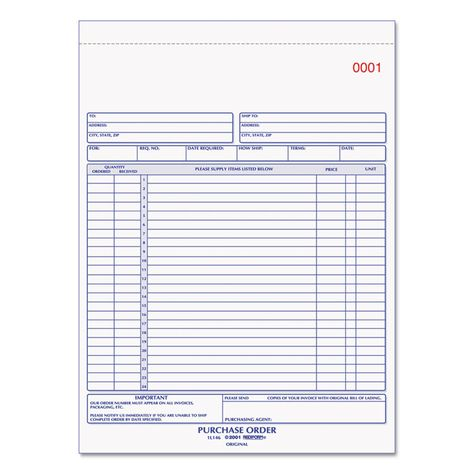 ... Local Purchase Order Form. High Density Can Liner, 24 X 33, 16gal,  5mic, Clear,  Local Purchase Order Form