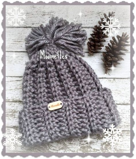 1b822741ae5 Charcoal Gray Slouchy Snowboard Beanie Crochet Grey Olympic Inspired  Snowboard Chunky Pom Pom Hat Nordic Wood Button  winterfashion  hats