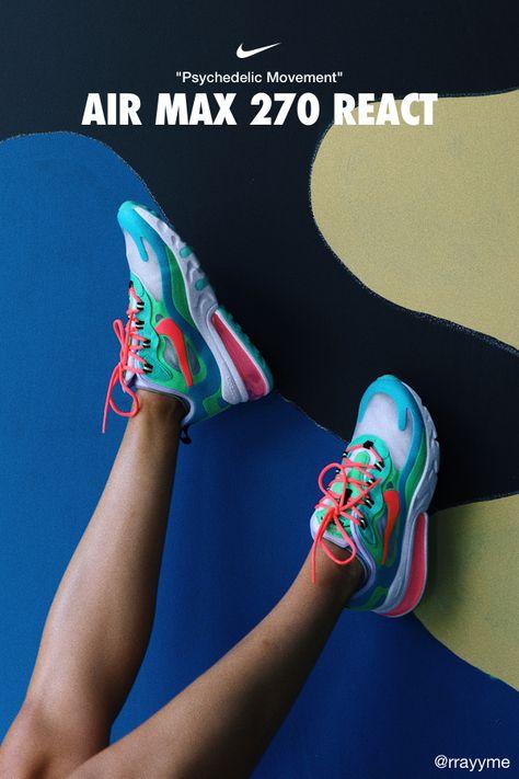 Nike Air Max 270 React (Pop Art) Herrenschuh