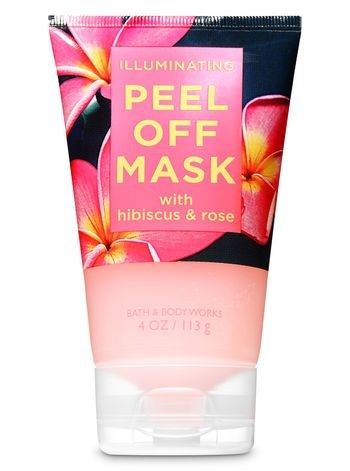 Illuminating With Hibiscus Rose Peel Off Face Mask Bath Body Works Bath And Body Care Bath And Body Bath And Body Works