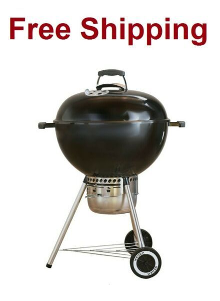 Charcoal Grill Weber Original Kettle Premium 22 In Black With Free Shipping In 2020 Charcoal Grill Portable Charcoal Bbq Portable Charcoal Grill