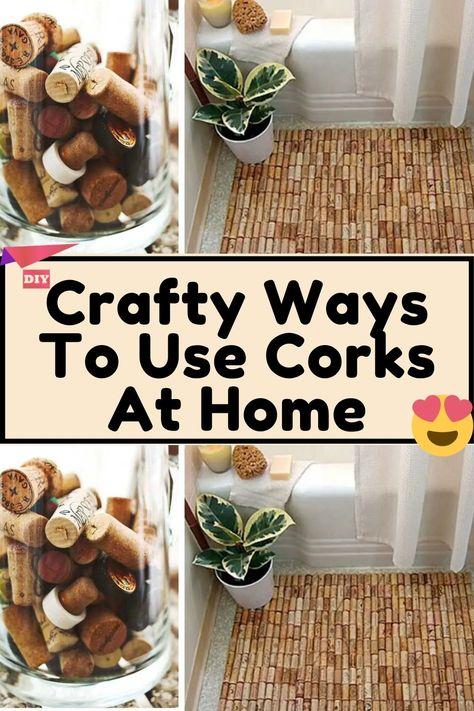 Hobbies And Crafts, Diy And Crafts, Arts And Crafts, Wine Bottle Candles, Wine Bottles, Wine Cork Art, Cork Crafts, Diy Recycle, Hacks Diy