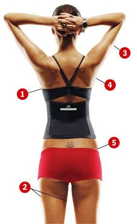 5 quick fixes for anything that jiggles.. I do every one of these exercises every night before bed!