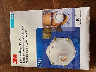 3m 8511 particulate n95 respirator mask filter valve