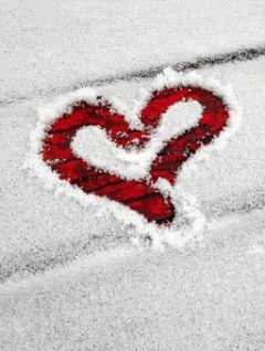 heart in the snow ~animation~ GIF~