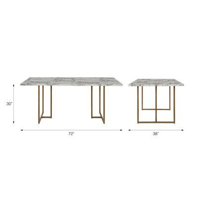Cosmoliving By Cosmopolitan Edith Dining Table Wayfair Dining Table Faux Marble Dining Table Marble Dining