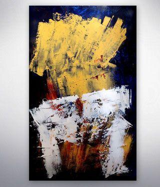 abstraktes acylbild gold blau silber abstrakte kunst gemalde originale unikate bilder modern kunstgalerie online shop galeri abstrakt acrylbilder bild amazon leinwandbilder