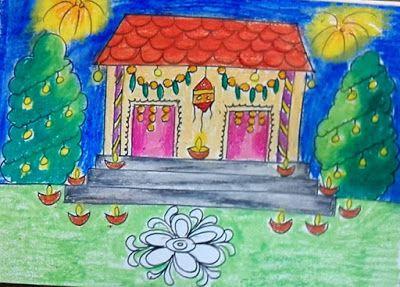 Children Diwali Drawing Contoh Soal Pelajaran Puisi Dan