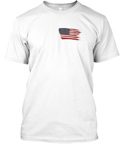 Usa Flag White T Shirt Front Mens Tops Shirts Usa Flag