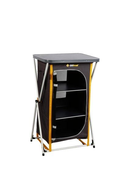 Deluxe Folding 3 Shelf Cupboard Cupboard Shelves Locker Storage