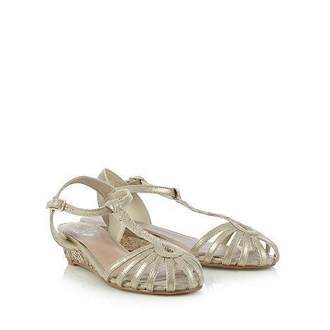 Girl's silver glitter cage wedge sandals at debenhams.com | Bridesmaid shoes  | Pinterest | Silver glitter, Wedge sandals and Wedges