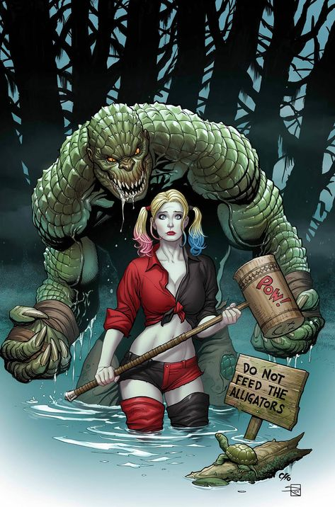The Very Best of Women in Comics — Harley Quinn & Killer Croc by Frank Cho Comic Book Artists, Comic Book Characters, Comic Character, Comic Books Art, Comic Art, Frank Cho, Joker Y Harley Quinn, Univers Dc, Killer Croc