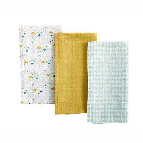 /Vanille Blanc Elodie Details Couverture en mousseline de bambou/