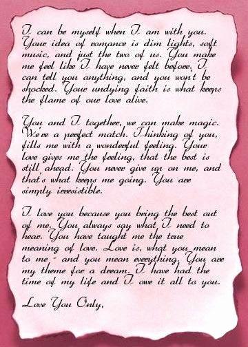 30 Romantic Love Letters For Her Romantic Love Letters Letter