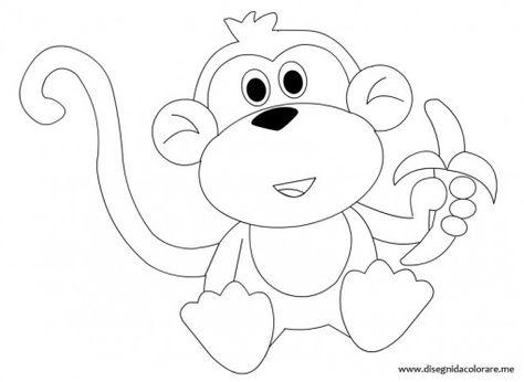 Scimmia Disegno Per Bambini