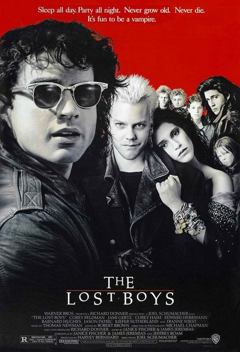 """""""The Lost Boys"""" > 1987 > Directed by: Joel Schumacher > Horror / Horror Comedy / Teen Movie"""