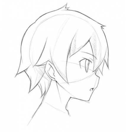50 Ideas Drawing Hair Male Side Anime Head Anime Face Shapes Boy Hair Drawing