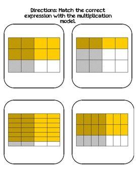 Multiplying Fraction Models | Fractions and Decimals ...