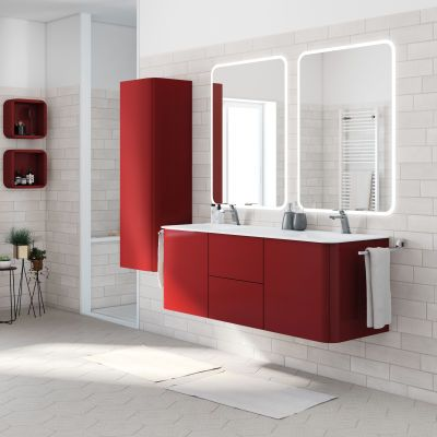 Mobile Bagno Liverpool Rosso L 140 Cm Bathrooms Bathroom