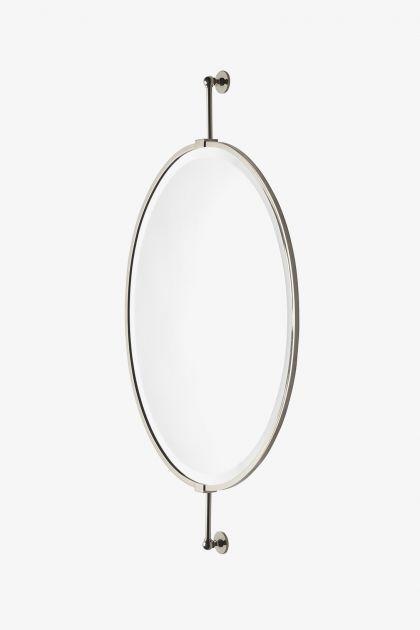 Crystal Wall Mounted Oval Mirror On Bar 24 X 2 1 2 X 42 3 16 Crystal Wall Modern Mirror Wall Mirror Gallery Wall