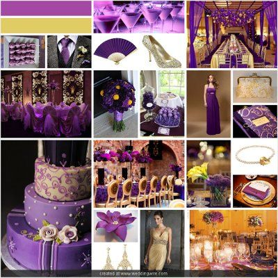 decoration purple gold for wedding | Projects to Try | Pinterest ...