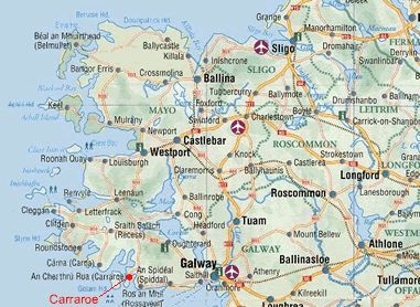 Carraroe Holiday Cottages Directions And Map Ireland Map Galway