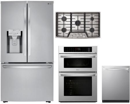 Lg 1071635 4 Piece Printproof Stainless Steel Kitchen Appliances Package Kitchen Appliance Packages Wall Oven Microwave Combo Kitchen Appliances