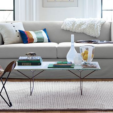Shockingly Cute West Elm Y Base Coffee Table. Carrera Marble And Raw Steel.  $399 | Furnishings | Pinterest | Coffee, Marbles And Marble Top Coffee Table