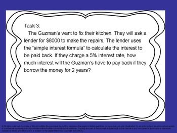 Https Www Teacherspayteachers Com Product Banking Mortgages And Simple Interest Task Cards 2197682 Simple Interest Mortgage Tips Task Cards