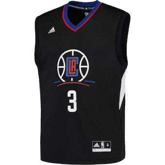 the latest 1aa5a 5018f Men's LA Clippers Chris Paul adidas Black Replica Basketball ...