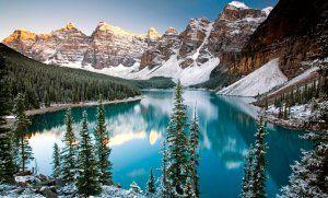 Moraine Lake At Winter Banff National Park Alberta Canada