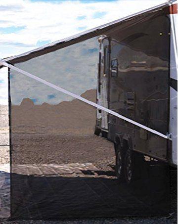 Tentproinc Rv Awning Side Sun Shade Net 9 7 Black Complete Kits Drop Motorhome Trailer Sideblocker Screen Retractabl Camping Canopy Awning Shade Shade Screen