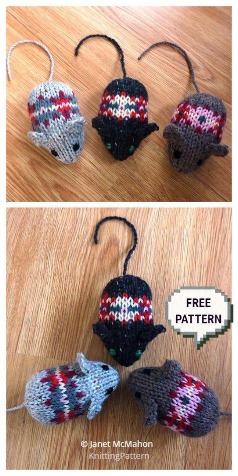 Knit Fairisle Mouse Toy Kostenlose Strickmuster – Strickmuster Knit Fairisle Mouse Toy Free Knitting Patterns – Knitting Patterns Check more at tiere. Owl Knitting Pattern, Animal Knitting Patterns, Christmas Knitting Patterns, Knitting Charts, Loom Knitting, Free Knitting, Crochet Patterns, Knitting Toys, Knitting Dolls Free Patterns