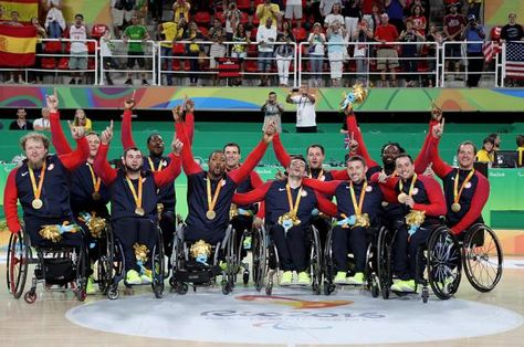 USA end gold-medal drought 17.09.2016 The US men's wheelchair basketball team defeated Spain for their first Paralympic gold since 1988 - USA - men's wheelchair basketball