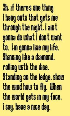 Have A Nice Day Bon Jovi Lyrics Google Search Love Songs