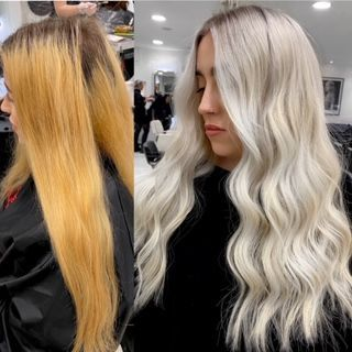 Platinum Card Rescue For A Bad Home Hair Color Techniques Blonde Hair Color Cool Blonde Hair Colour